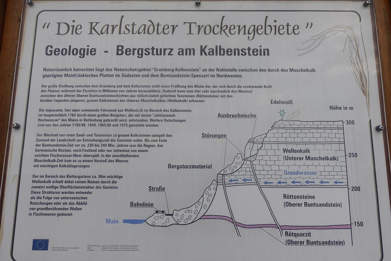 Karlstadter Trockengebiet am Kalbenstein Geologe